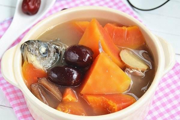 红枣木瓜鲫鱼汤