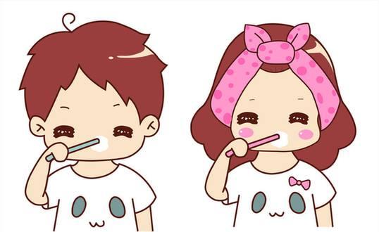 饭后刷牙去除口臭