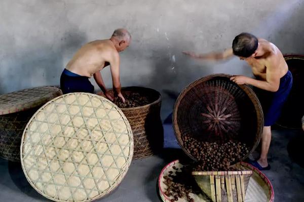 安徽蜜枣的传统制作-老烘翻烤