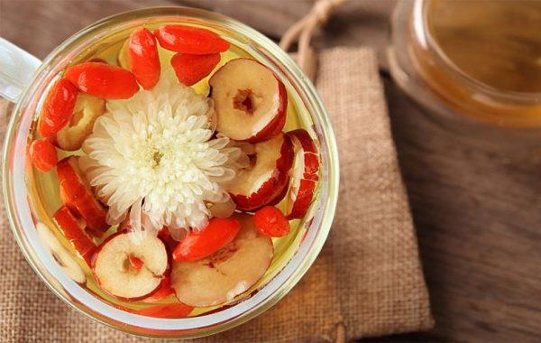 红枣枸杞茶泡水
